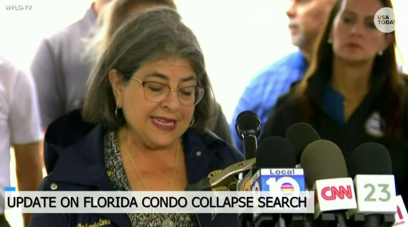 Copy of Officials give update on search and rescue efforts at collapsed condo   USA TODAY