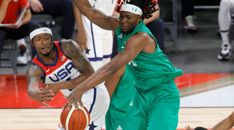 twitter-reacts-to-precious-achiuwa's-big-block-on-kevin-durant-in-usa-vs.-nigeria-–-sporting-news