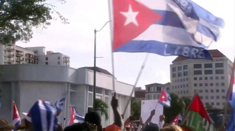miami-demonstrators-block-highway-to-support-cuban-protests-–-boston-news,-weather,-sports-|-whdh-7news