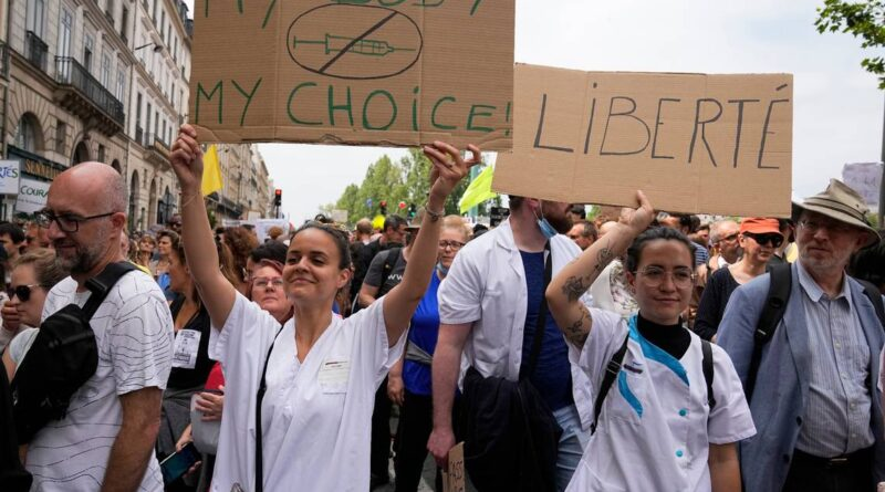 france:-thousands-protest-against-vaccination,-covid-passes-–-miami-herald