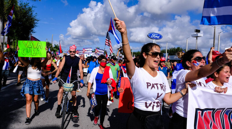 why-miami-is-embracing-the-cuba-protests-–-the-new-york-times