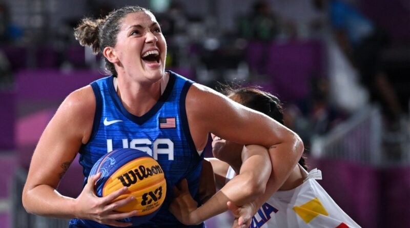 stefanie-dolson,-team-usa-dominating-early-stages-of-3×3-basketball-pool-play-–-nbc-chicago