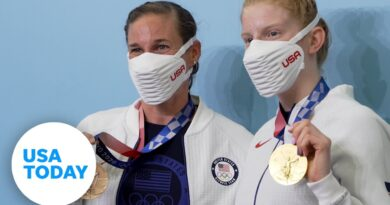 Lydia Jacoby and Katie Zaferes: Full medal press conference, swimming and triathlon   USA TODAY