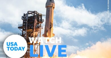Post-launch press conference with Blue Origin's first astronaut crew (LIVE) | USA TODAY
