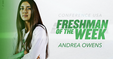 owens-named-c-usa-freshman-of-the-week-–-university-of-north-texas-athletics-–-mean-green-sports